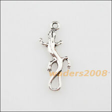 25 New Charms Tibetan Silver Animal Lizard Pendants DIY 8x23.5mm