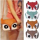 Girl Women Ladies Retro Shoulder Bag Messenger Bags Tote Owl Fox Handbags Gift[
