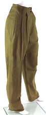 Vintage Timberland Leather Tan Suede High Waist Women's Pants, Size 12