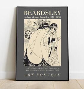 Aubrey Beardsley Print, Beardsley Wall Art, Exhibition Poster, Art Nouveau