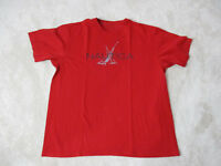 Nautica Competition Shirt Adult Large Red Gray Spell Out Box Logo Sailing 90s