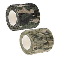 2 Pieces New Tactical Gun Wrap Cover Hunting Shooting Camo Wrap Tape Roll