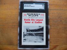 1961 NU-CARD MICKEY MANTLE LONGEST HOMER # 450 SGC GRADED 84 NM 7