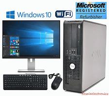 "Fast Dell Windows 10 Optiplex Desktop Computer Tower Core2Duo 4GB 160GB 17"" LCD"
