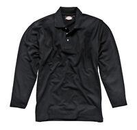 Dickies Mens Long Sleeve Polo Shirt Black/Navy Blue/Old Nvy Various Size SH21100