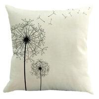 Modern Simple Beige Dandelion Cotton Linen Cushion Cover Car Sofa Waist Sea Q3K7