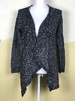 Divided by H&M Womens Sz XS Long Sleeve Open Front Black White Cardigan Sweater