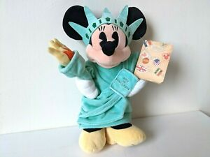 """Disney Store New York / 11"""" Statue of Liberty Minnie Mouse - Plush / Soft Toy"""