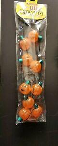 Lotsa Lights ~ Jumbo Light Up Pumpkin Flashing Halloween Necklace 9 pumpkins
