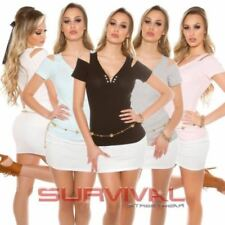 Unbranded Cotton Tops & V-Neckline Blouses for Women