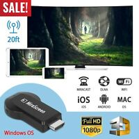 Miracast Wifi Display TV Dongle Wireless Receiver 1080P HDMI AirPlay DLNA Share