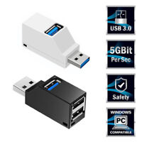 3 Ports USB 3.0 Hub Mini High Speed Splitter Box Adapter For Laptop Macbook CA