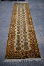 F376 Stunning handmade Vintage Afghan Tribal Turkoman Rug Runner 2'9 x 9'9 Feet