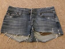 Womens Shorts Distressed Denim Jeans Size 8