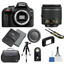 Nikon D3400 DSLR Camera + 18-55mm AF-P f/3.5-5.6G VR Lens + TOP VALUE BUNDLE