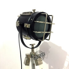 Halloween RETRO FLO0R LAMP WITH STAND INDUSTRIAL SEA LIGHT HOUSE WOOD TRIPOD DES