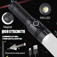 Superhell 900000lm LED Taschenlampe XHP50 taktisches Polizei Fackel Arbeitslich