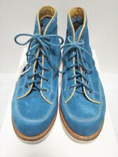 VISVIM Flat Shoes Boots Sneakers RIFFELBERG-FOLK Men's US9 Suede Blue Japan #555
