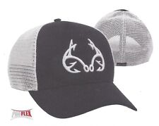 PROFLEX Fitted L/XL Realtree FISHING MESH Back Embroidered Hooks Logo Black Hat