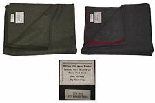 Military Style Heavy Wool Blanket Olive Green