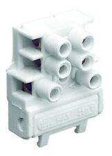Clipsal BLUE POINT FUSED TERMINAL BLOCK 250V 3-Poles 10A With Spigot, White