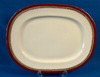 "Aynsley Ambassador Marone Bone China 15.5"" Oval Platter made in England"