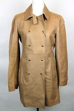 $3950 NEW Gucci Womens Long Leather Double Breasted Coat Brown 46 311035 2342