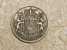 World War Two 1942 Canada Half Dollar  50C  Silver Lot