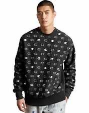 Mens Sweatshirt Champion Life Reverse Weave Crewneck Assorted All Over Logo NWT
