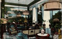 New Orleans LA~Hotel DeSoto Lounge~Victorian Lamps & Armchairs~$1.50 Up~1912 PC