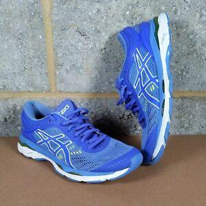 ASICS GEL KAYANO 24 MENS RUNNING SHOES - Blue- UK size 7 - USED