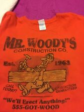 "Men's ""Mr. Woody's Construction We'll Erect Anything'' 555-got-wood Graphic Tee"