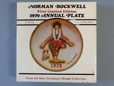 Norman Rockwell First Limited Edition 1979 Annual Plate 'Leap Frog' w/ Box