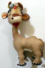 VINTAGE TOY DOLL COW PANNOLENCI CLOTH FELT italy 1960s