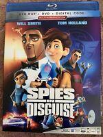 Spies In disguise (Blu-ray, DVD) With Slip Cover