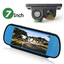"US-7"" LCD Car Rearview In-mirror Monitor+2in1 Radar Parking Sensor Backup Camera"
