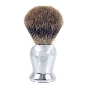 Badger Hair Shaving Brush ~ Chrome Handle