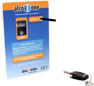 Etilometro x Locali Pubblici - ALCO-ONE-Free Con Certificato di Calibrazione