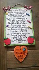 Handmade Wooden LARGE CHILDMINDER colourful plaque - gift