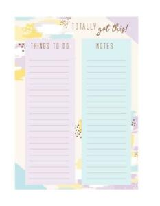 A4 Memo List Pad Brushed - Shopping To Do Cleaning Tear Off Pastel Notepads