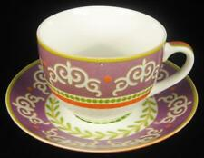 Maxwell & Williams Purple & Orange 'Vivacious' Cup & Saucer (3 Available)