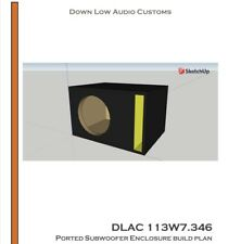 JL Audio 13W7 Subwoofer Enclosure Build Plan