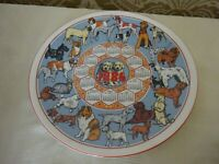 Wedgwood Collectors Calendar Plate 1984 Dogs