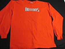 Adidas Orange Crew Neck Cotton Long Sleeve Shirt Men's XL  AR