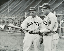 babe ruth yankees and bill terry giants 8x10 photo