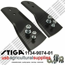 STIGA MOWER 1134-9074-01 BLADE & BOLT SET  1134-9123-01, 1134-5073-01 NEXT DAY