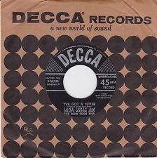 """JANE TURZY - I'VE GOT A LETTER / CALL ME UP - 7"""" 45 RECORD -"""