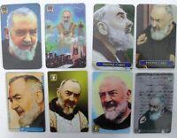 """Fake/falso schede telefoniche - """"Padre Pio"""" - gruppo di 8 schede"""