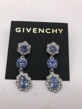 $58 givenchy silver tone blue drop earrings F13