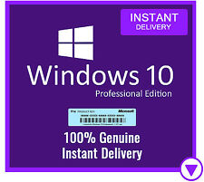 Windows 10 Pro Professional Genuine License Key 32/64 bit 🔑 Product Code